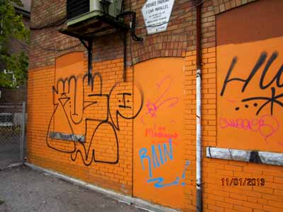 Commercial Graffiti Removal Companies Toronto Before