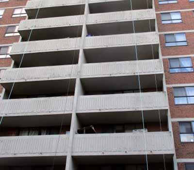 Dirty Toronto Apartment Balconies Before Cleaning
